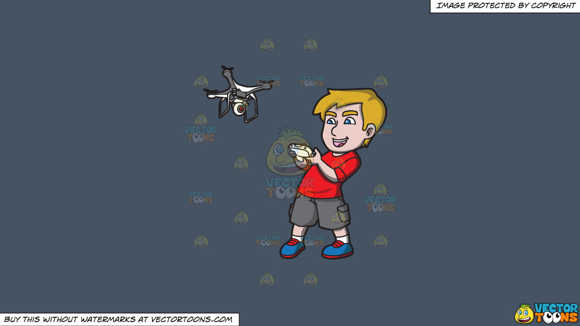 An Excited Young Man Controlling A Flying Drone On A Solid Metal Grey 465362 Background thumbnail