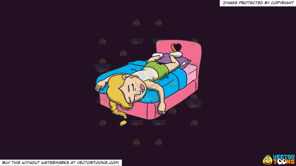 An Exhausted Woman Getting Some Much Needed Sleep On A Solid Purple Rasin 241023 Background thumbnail