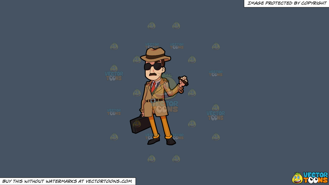 An Incognito Looking Bill Collector On A Solid Metal Grey 465362 Background thumbnail