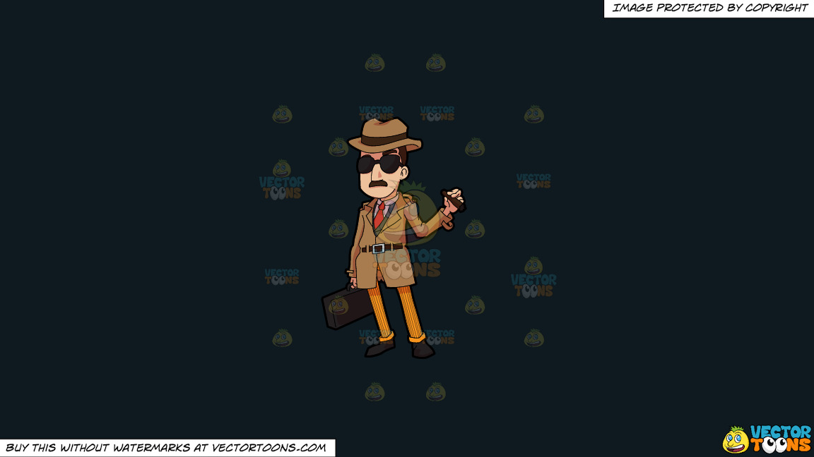 An Incognito Looking Bill Collector On A Solid Off Black 0f1a20 Background thumbnail