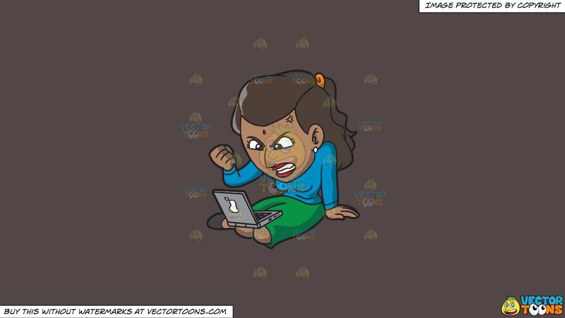 An Indian Woman Getting Angry While Surfing The Internet On A Solid Quartz 504746 Background thumbnail