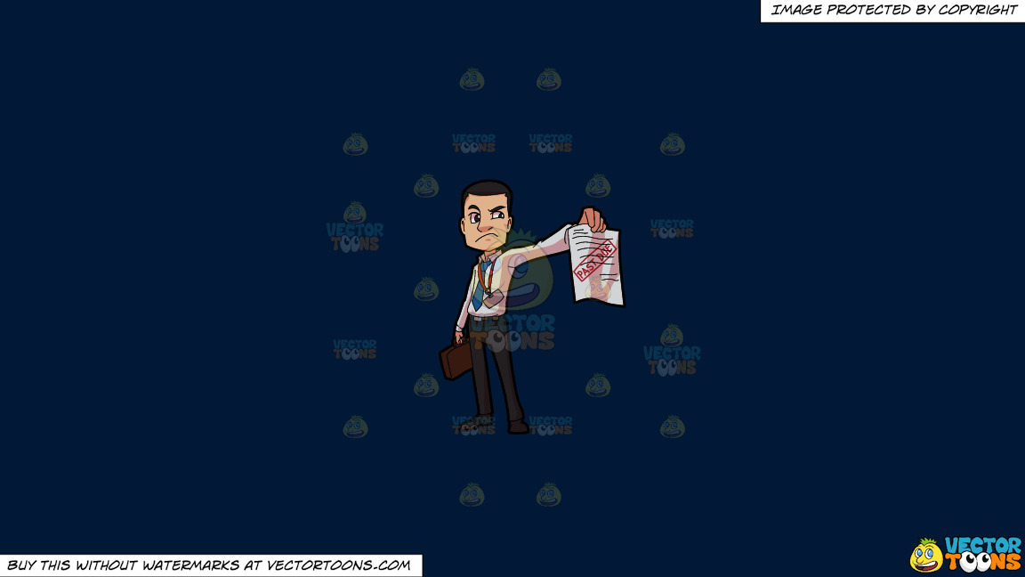 An Irritated Bill Collector On A Solid Dark Blue 011936 Background thumbnail