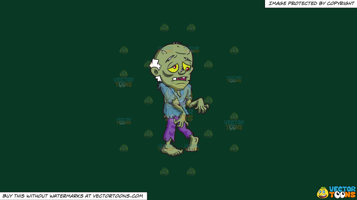 An Old Zombie On A Solid Dark Green 093824 Background thumbnail