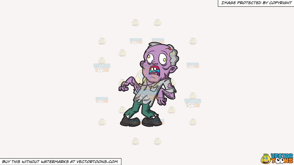 An Old Zombie With Dislocated Feet And Arms On A Solid White Smoke F7f4f3 Background thumbnail