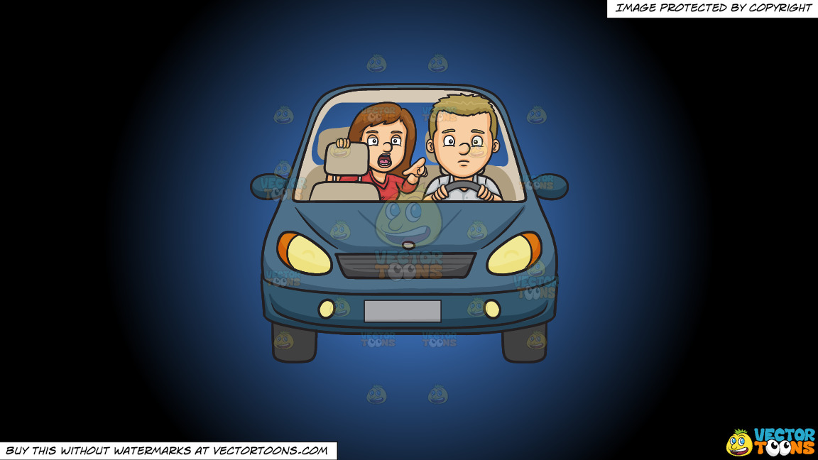 Backseat Driver On A Blue And Black Gradient Background thumbnail