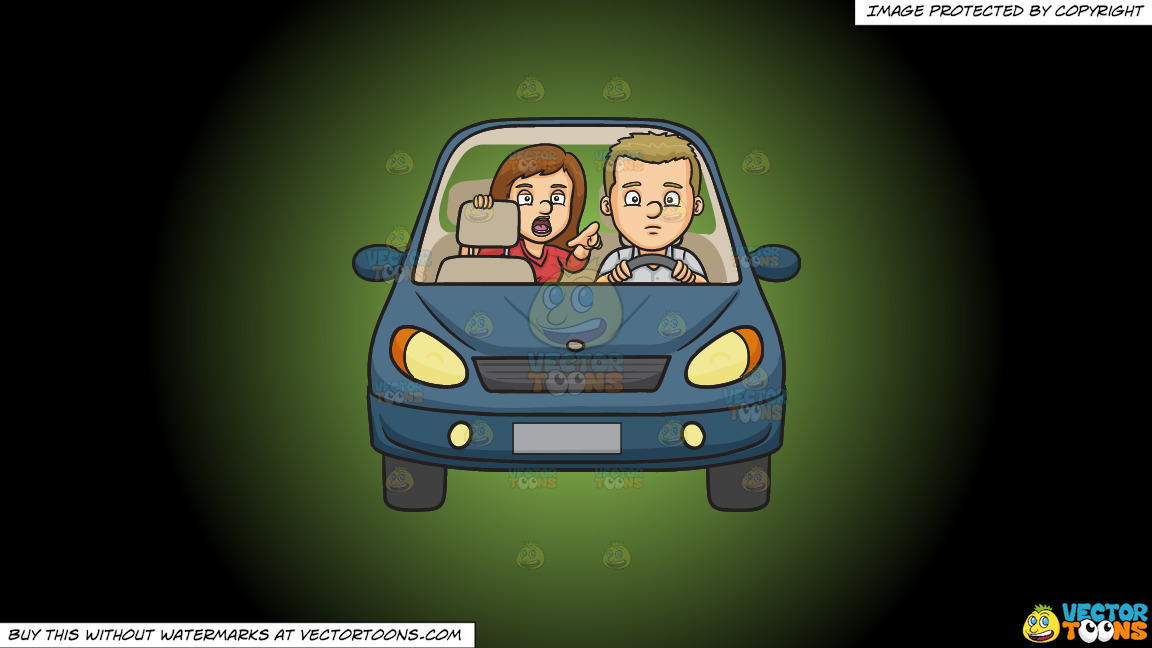 Backseat Driver On A Green And Black Gradient Background thumbnail