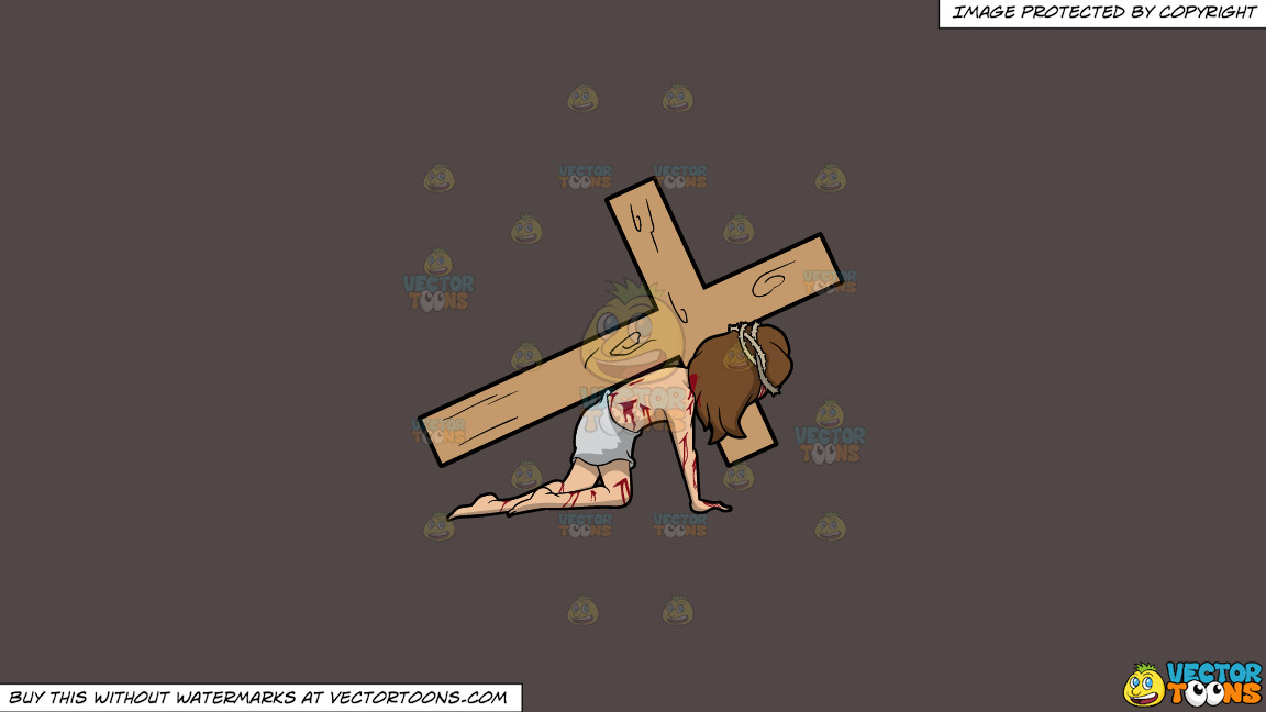 Christ Dragging A Cross On A Solid Quartz 504746 Background thumbnail