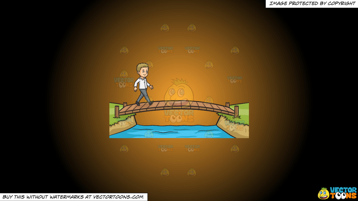 Cross That Bridge When You Come To It On A Orange And Black Gradient Background thumbnail