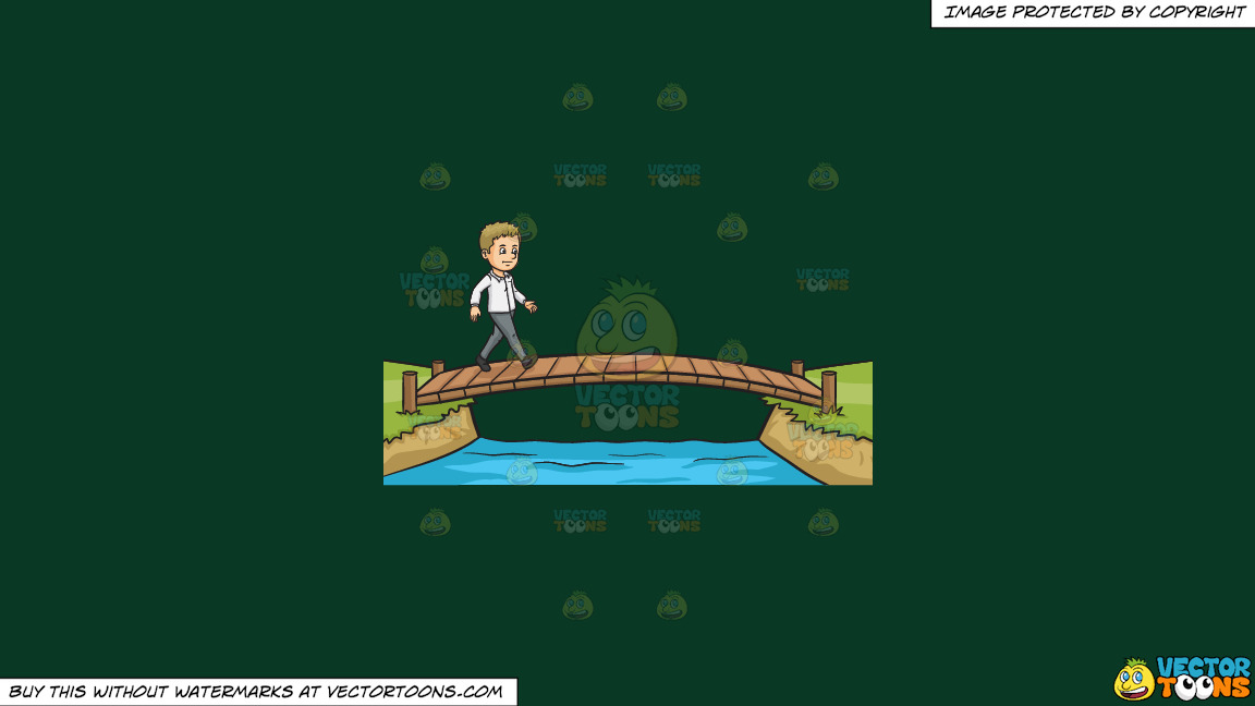 Cross That Bridge When You Come To It On A Solid Dark Green 093824 Background thumbnail