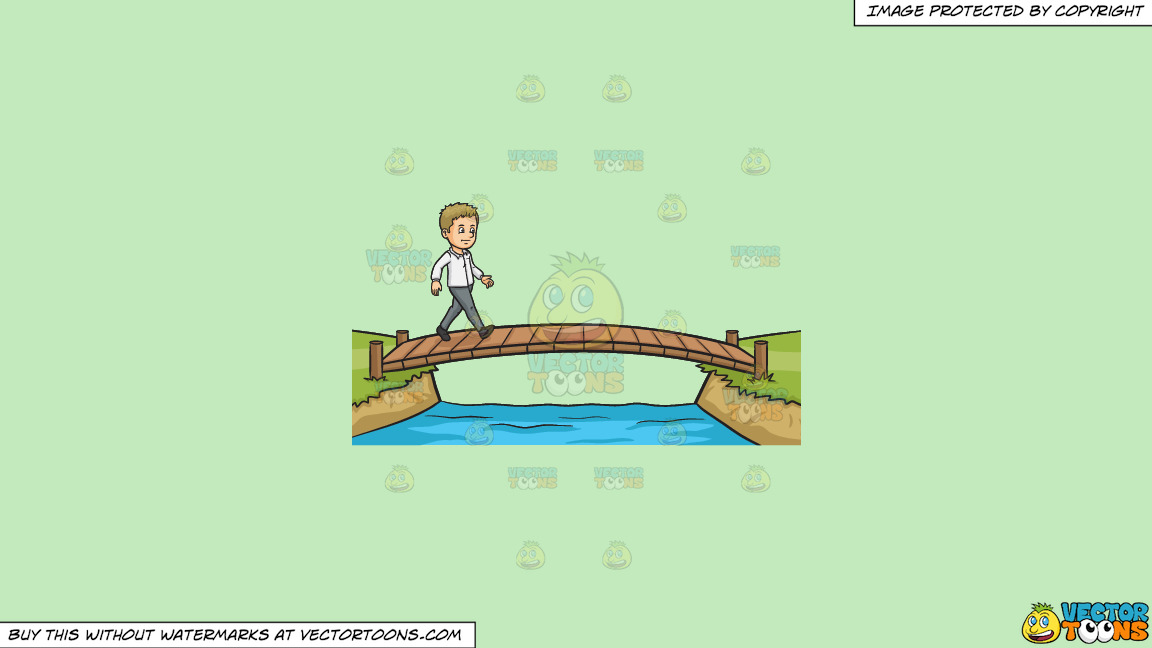 Cross That Bridge When You Come To It On A Solid Tea Green C2eabd Background thumbnail