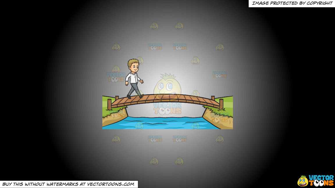 Cross That Bridge When You Come To It On A White And Black Gradient Background thumbnail