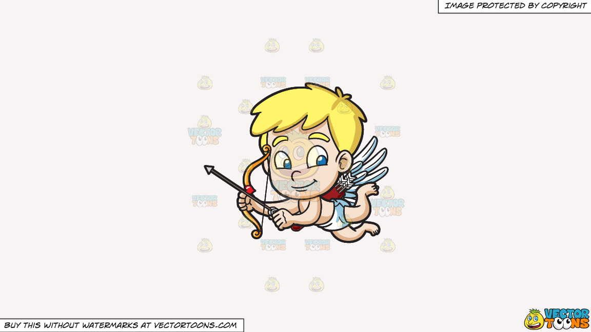 Cute Cupid Flying Around On A Solid White Smoke F7f4f3 Background thumbnail