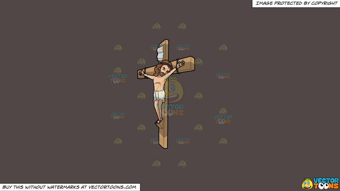 Jesus In Pain On The Cross On A Solid Quartz 504746 Background thumbnail