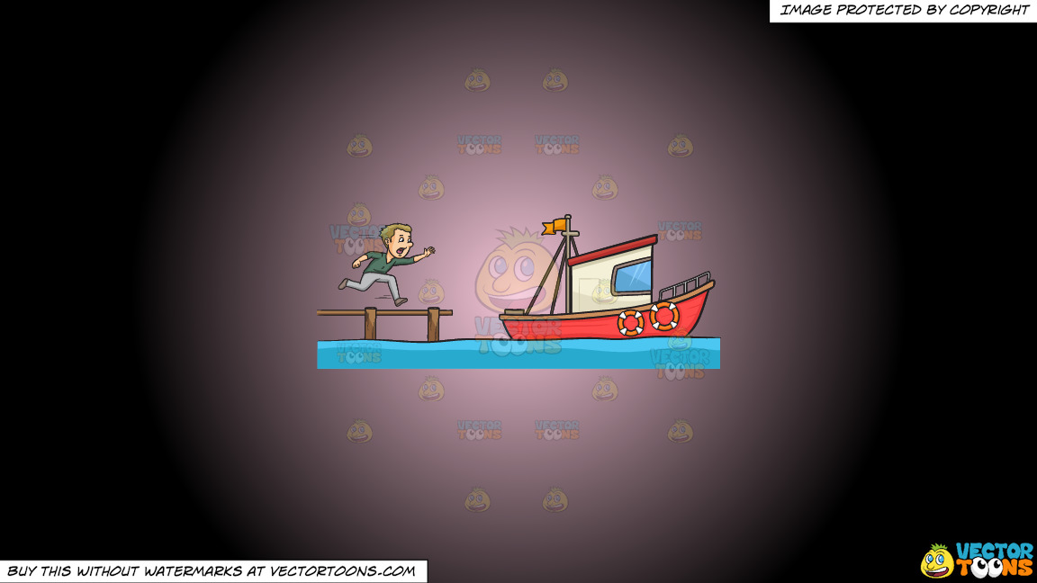 Miss The Boat On A Pink And Black Gradient Background thumbnail