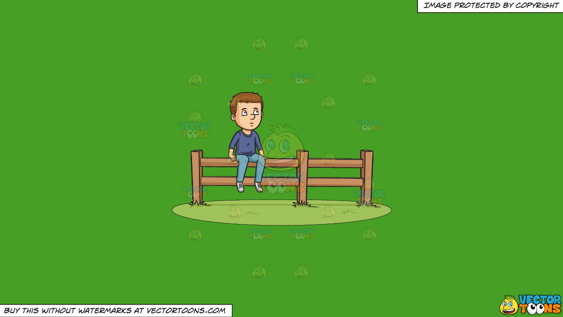 On The Fence On A Solid Kelly Green 47a025 Background thumbnail