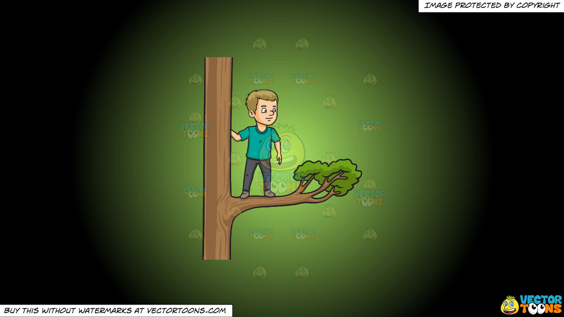Out On A Limb On A Green And Black Gradient Background thumbnail