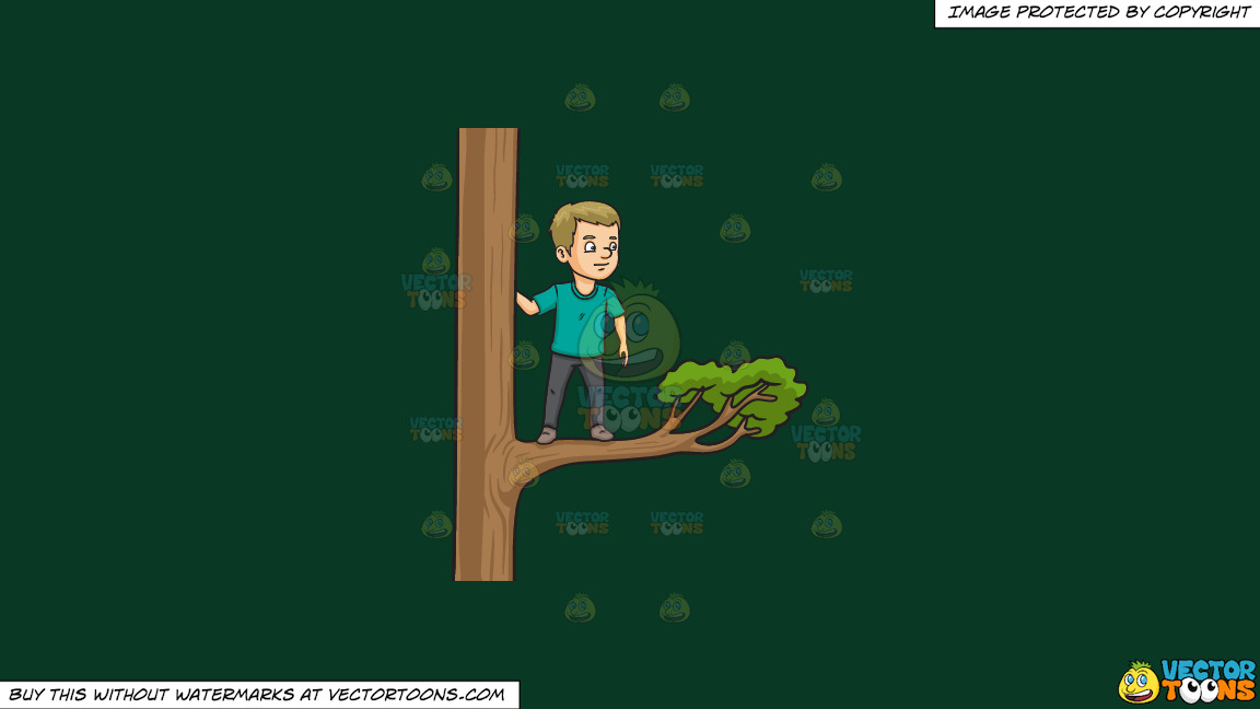 Out On A Limb On A Solid Dark Green 093824 Background thumbnail