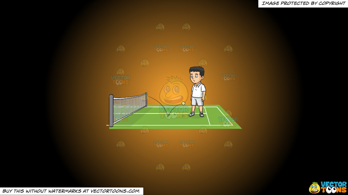 The Ball Is In Your Court On A Orange And Black Gradient Background thumbnail