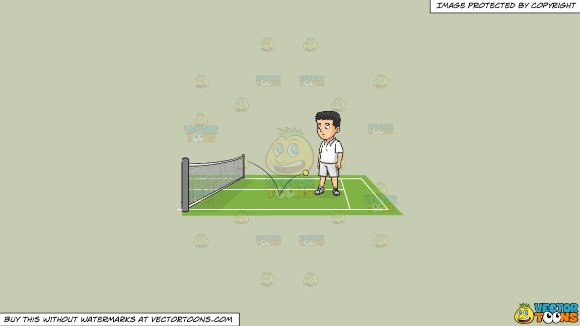 The Ball Is In Your Court On A Solid Pale Silver C6ccb2 Background thumbnail