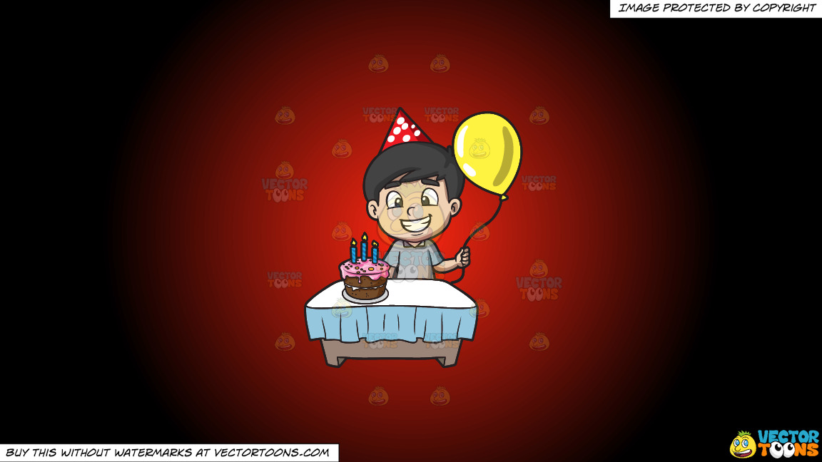 The Proud Birthday Boy On A Red And Black Gradient Background thumbnail