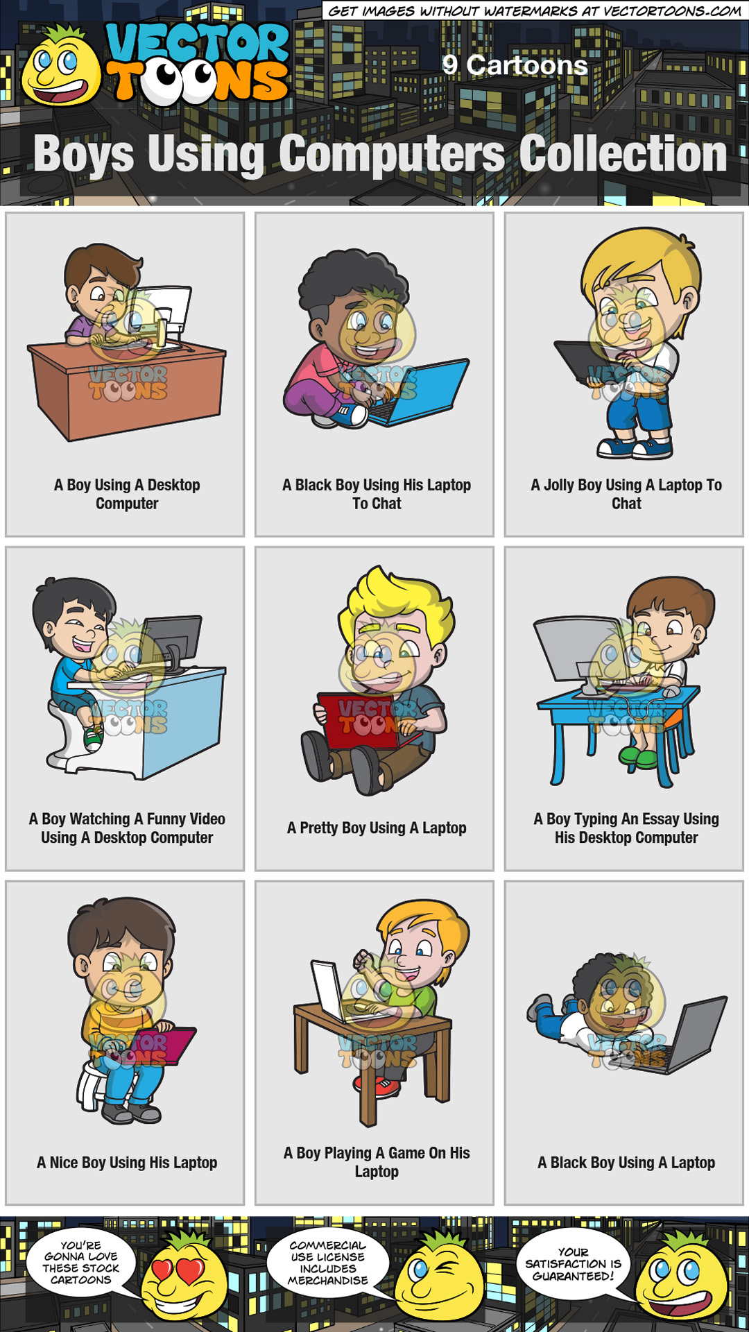 Boys Using Computers Collection thumbnail