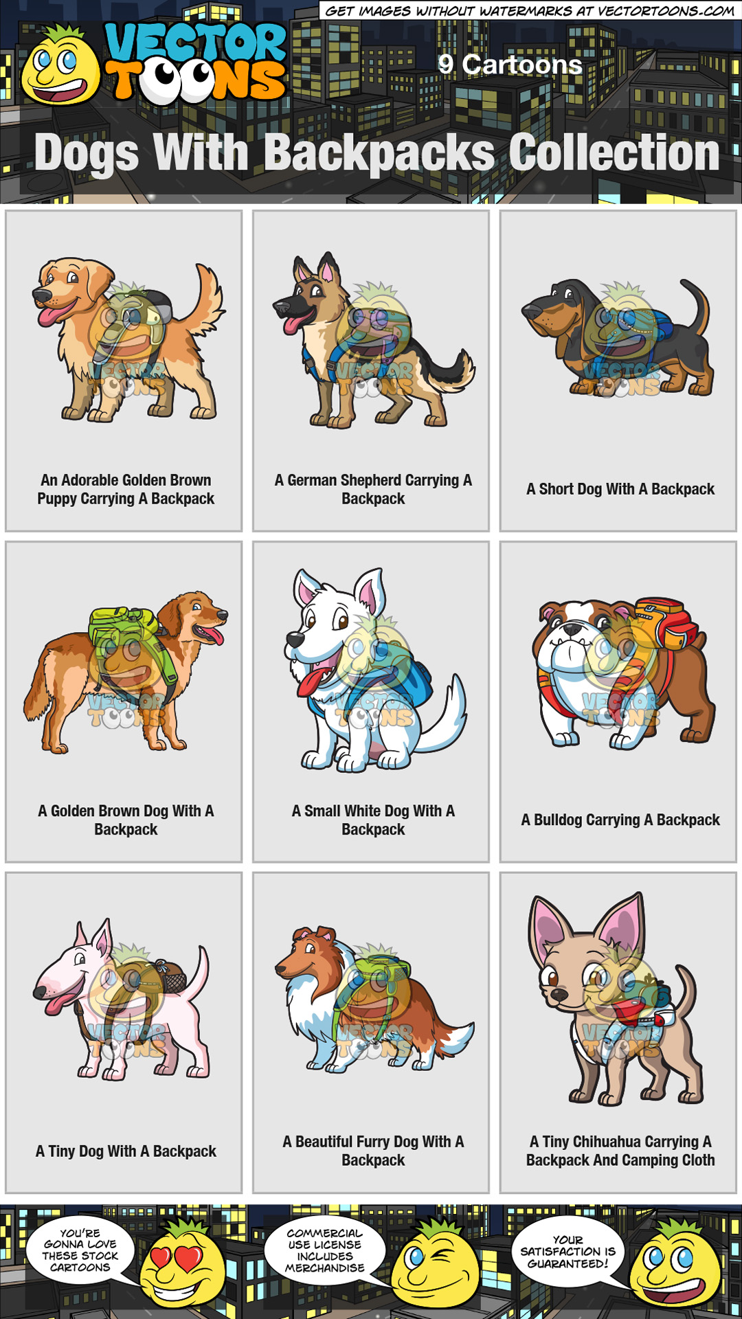 Dogs With Backpacks Collection thumbnail
