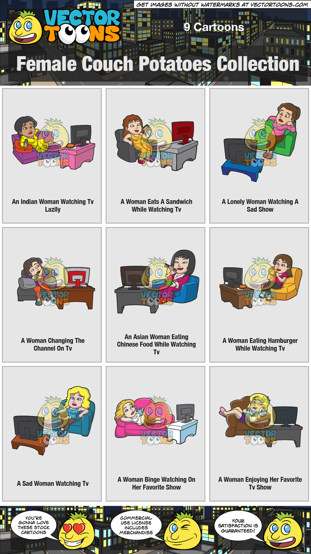 Female Couch Potatoes Collection thumbnail