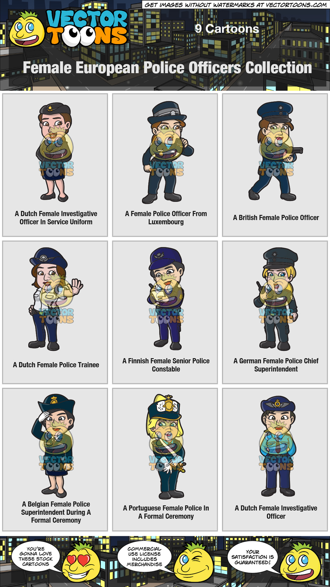 Female European Police Officers Collection thumbnail