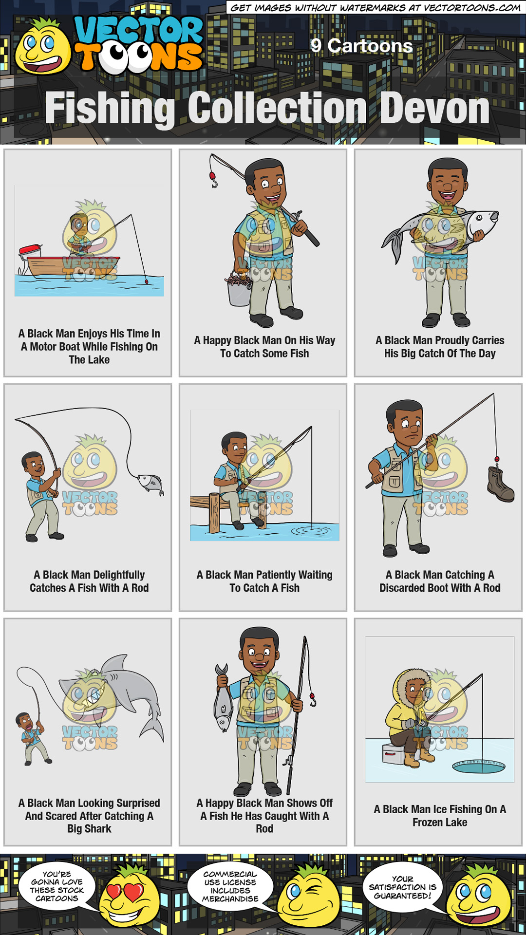 Fishing Collection Devon Clipart Cartoons By Vectortoons