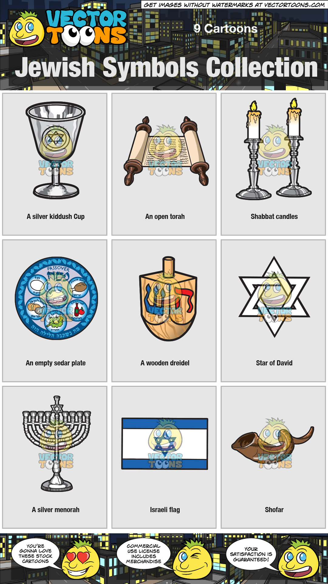 Jewish Symbols Collection thumbnail