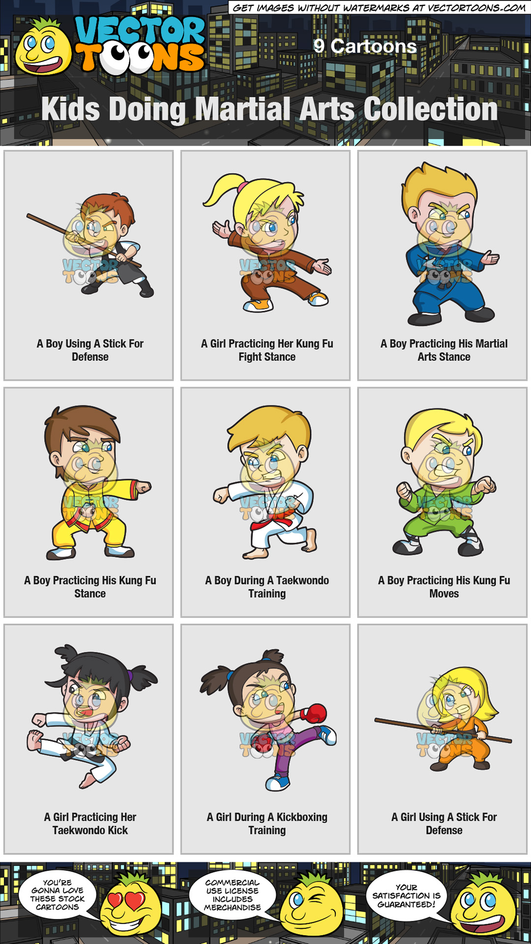 Kids Doing Martial Arts Collection thumbnail