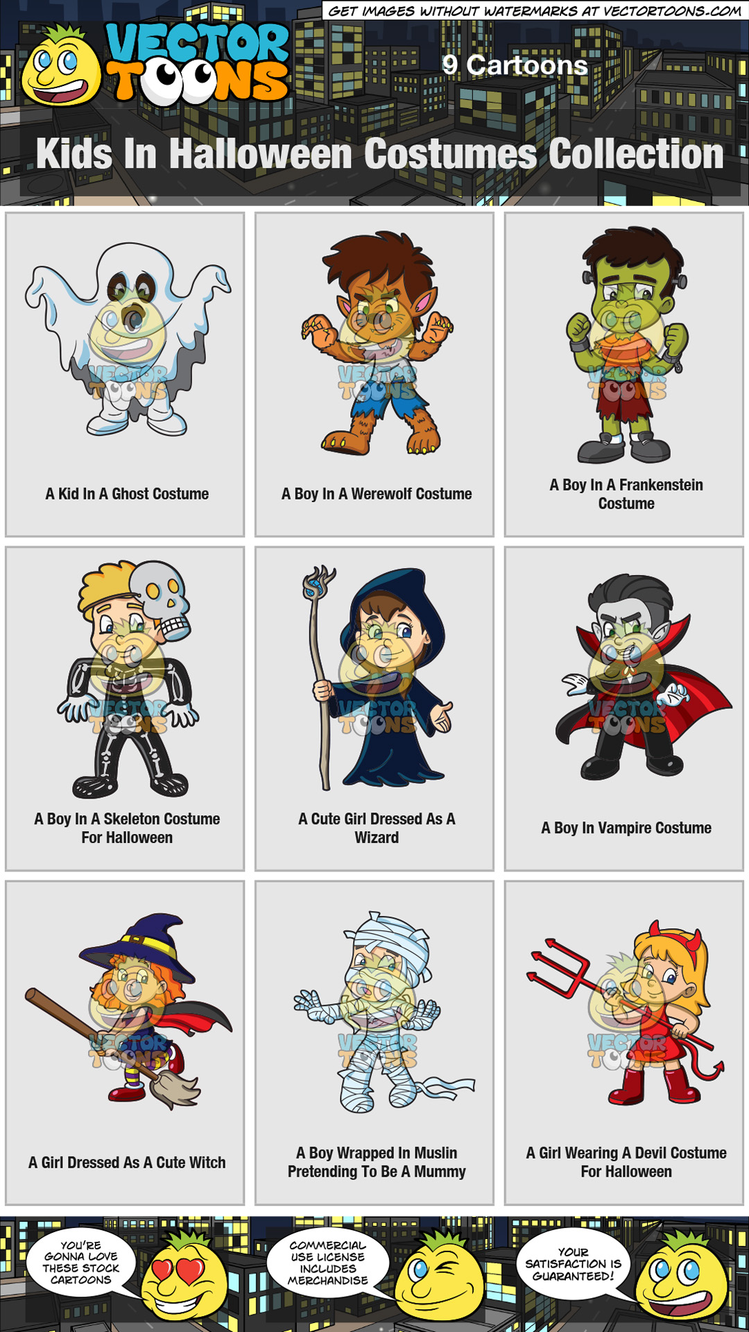 Kids In Halloween Costumes Collection thumbnail