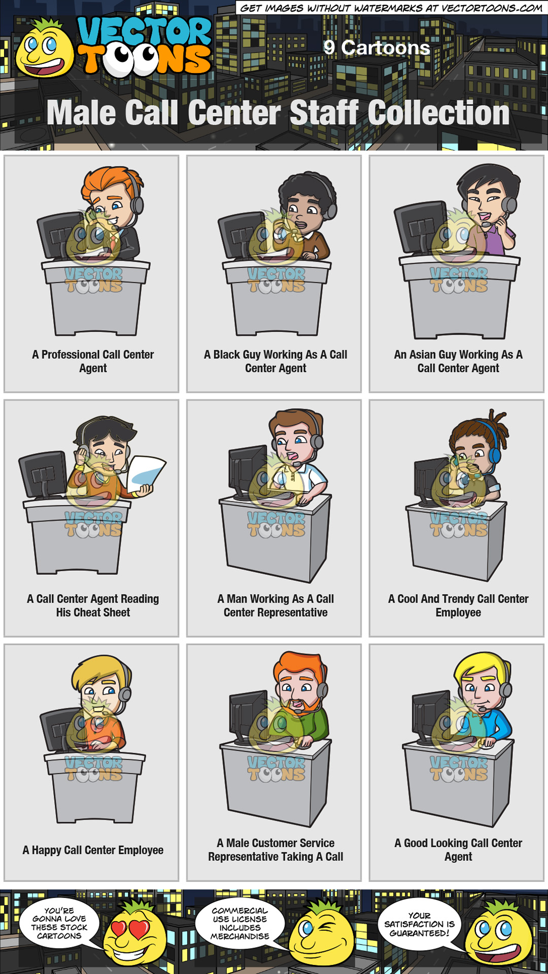 Male Call Center Staff Collection thumbnail