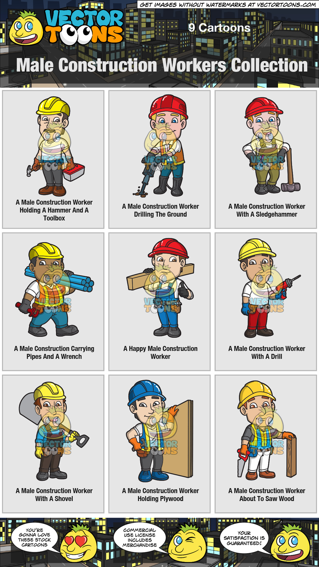 Male Construction Workers Collection thumbnail