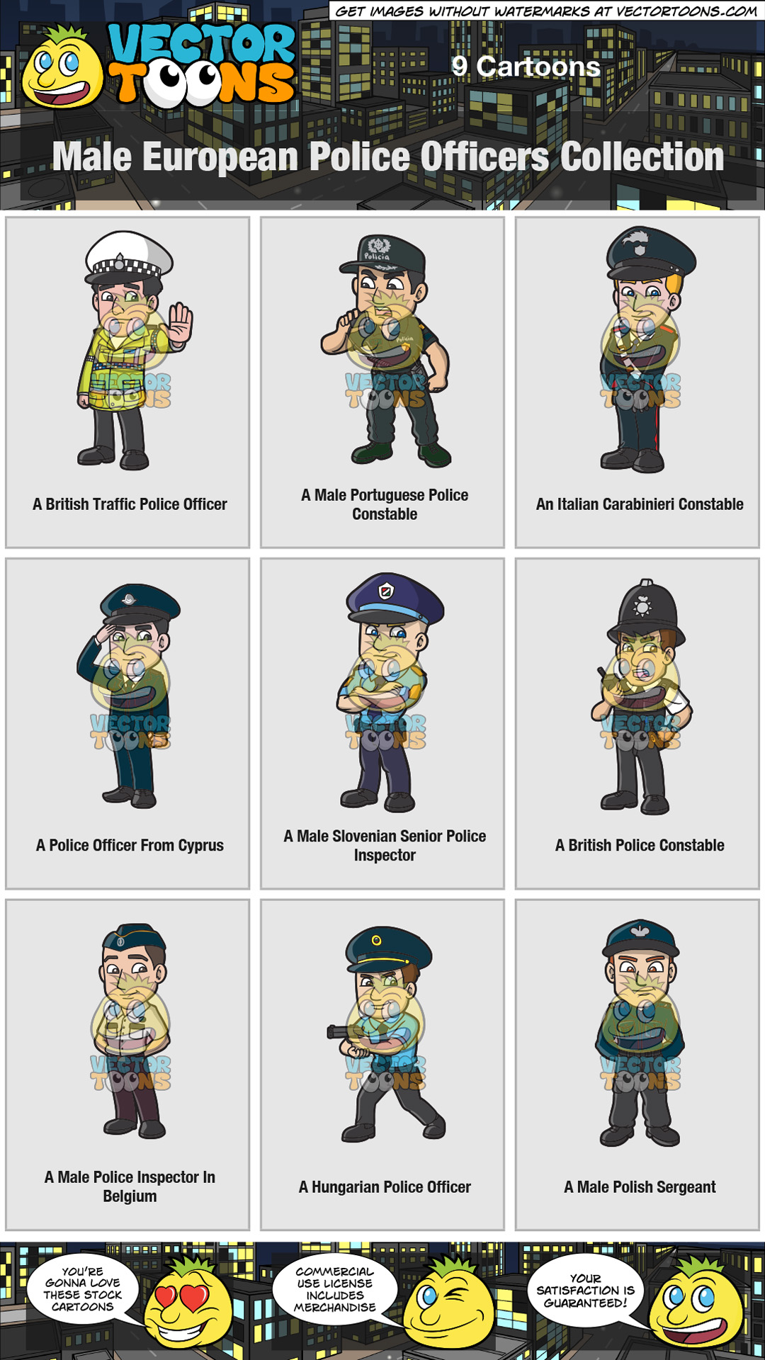 Male European Police Officers Collection thumbnail