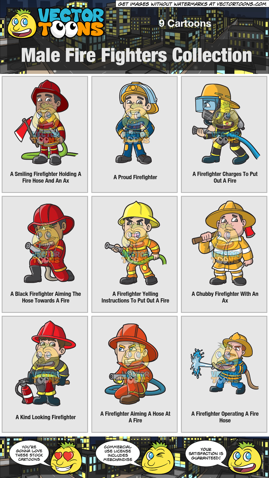 Male Fire Fighters Collection thumbnail