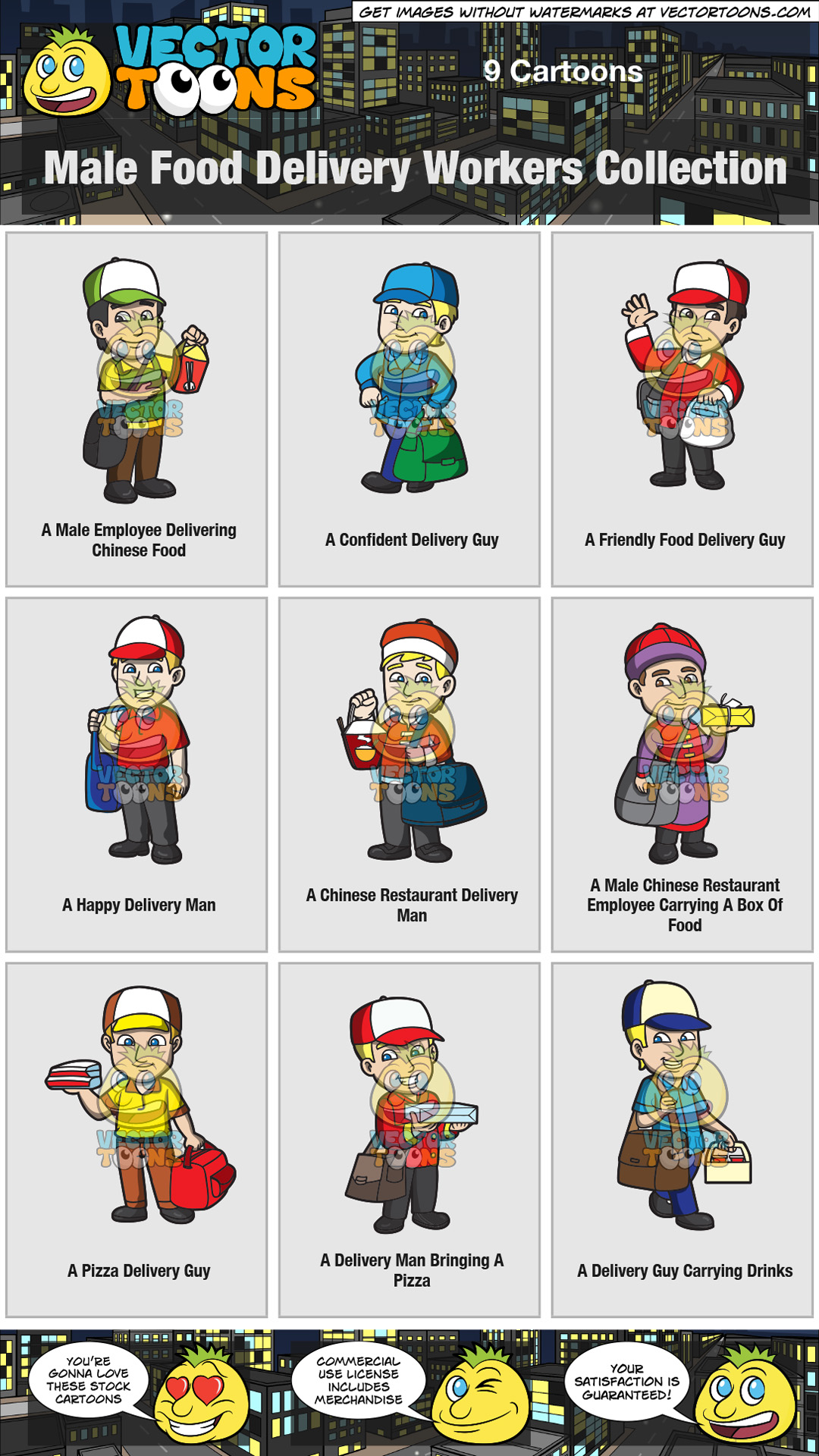 Male Food Delivery Workers Collection thumbnail