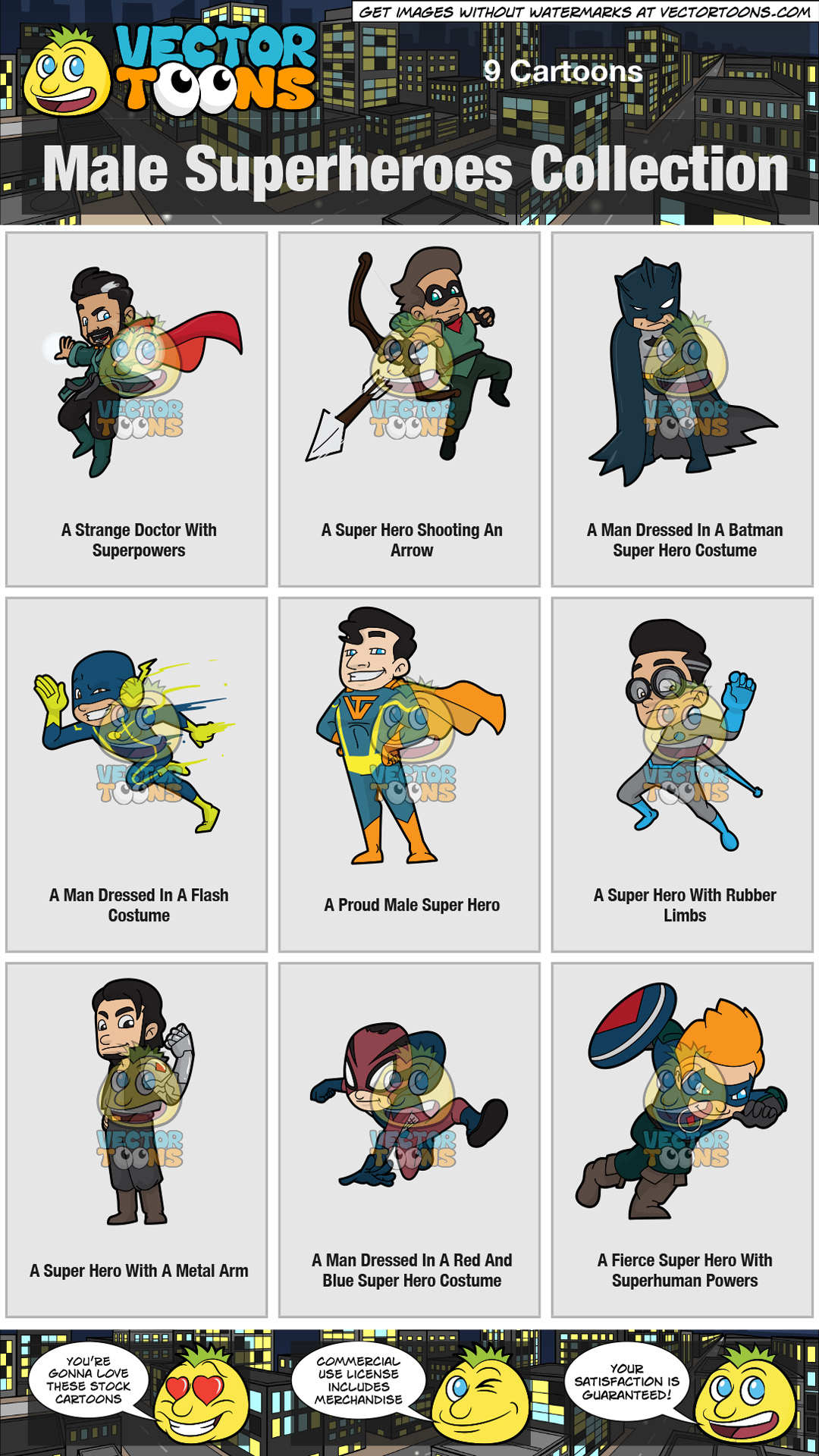 Male Superheroes Collection thumbnail