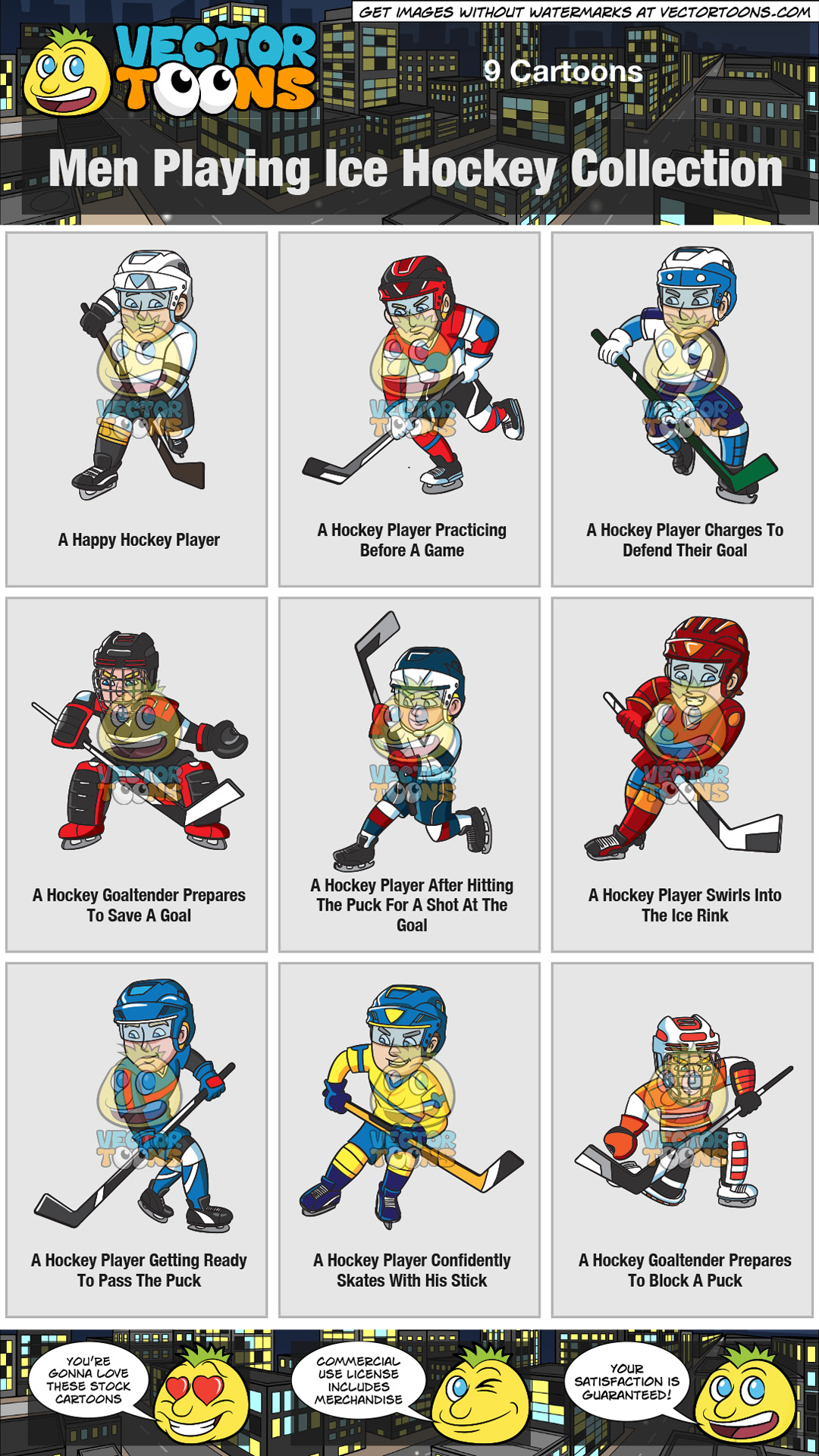 Men Playing Ice Hockey Collection thumbnail