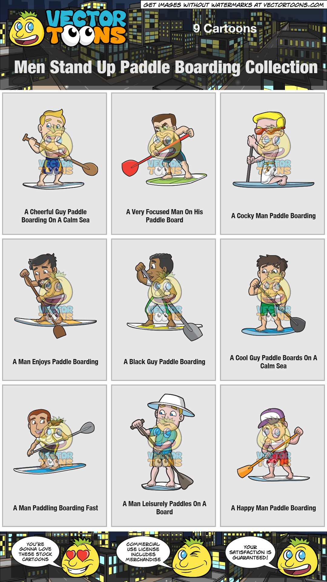 Men Stand Up Paddle Boarding Collection thumbnail