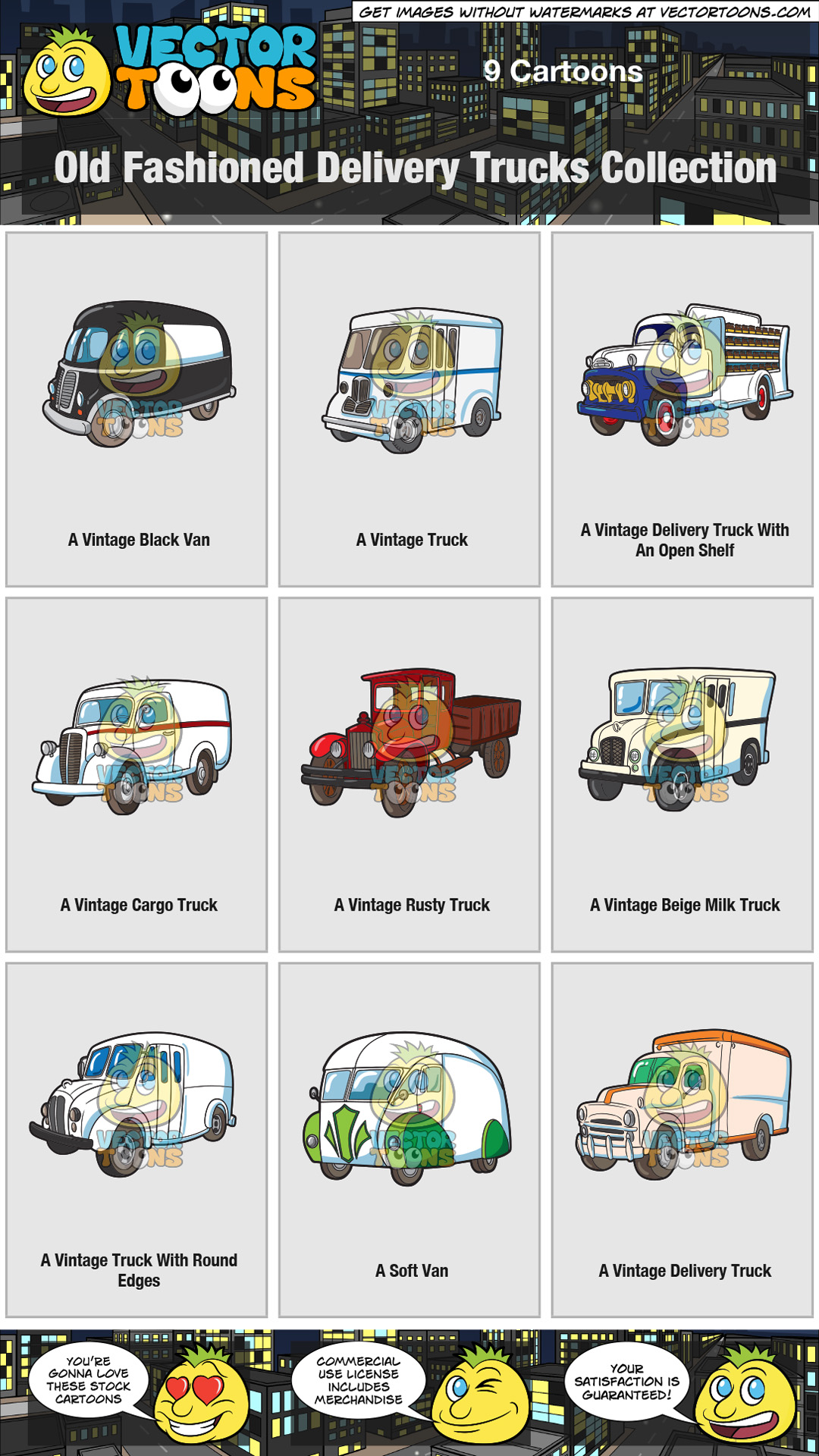 Old Fashioned Delivery Trucks Collection thumbnail