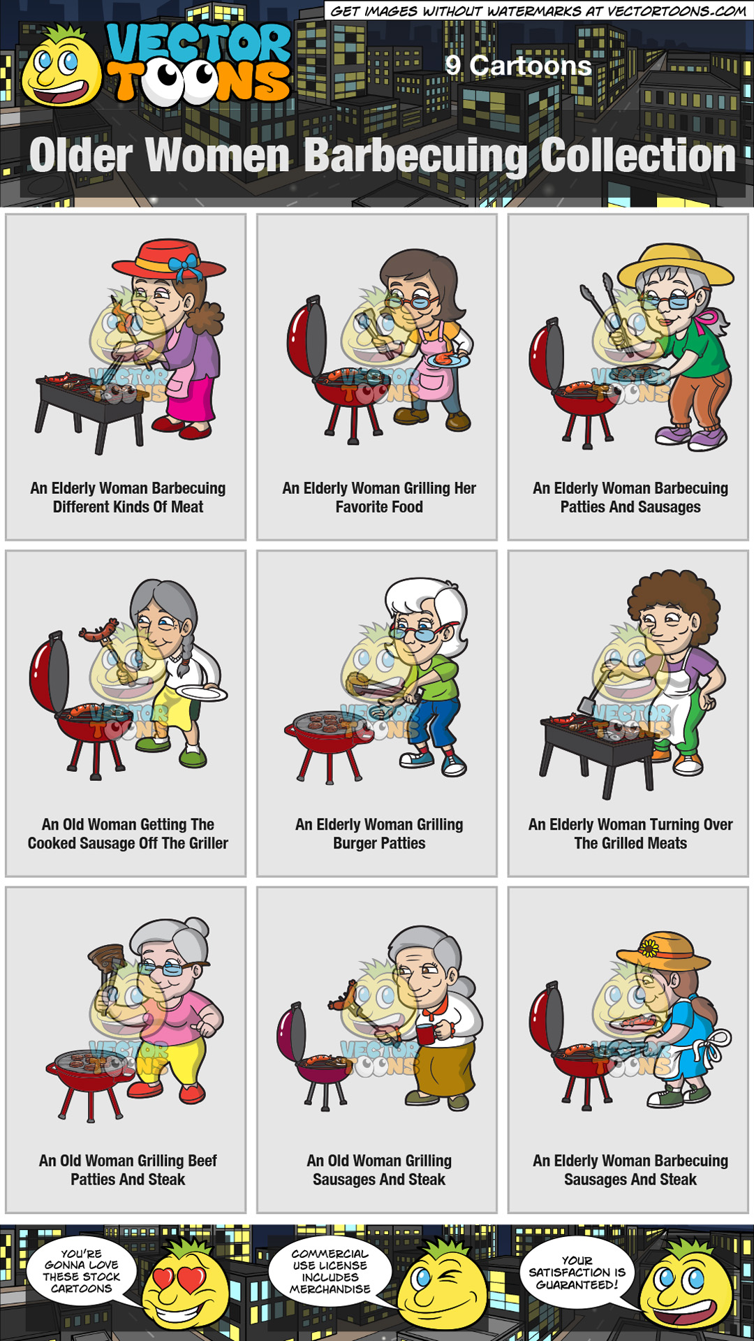 Older Women Barbecuing Collection thumbnail