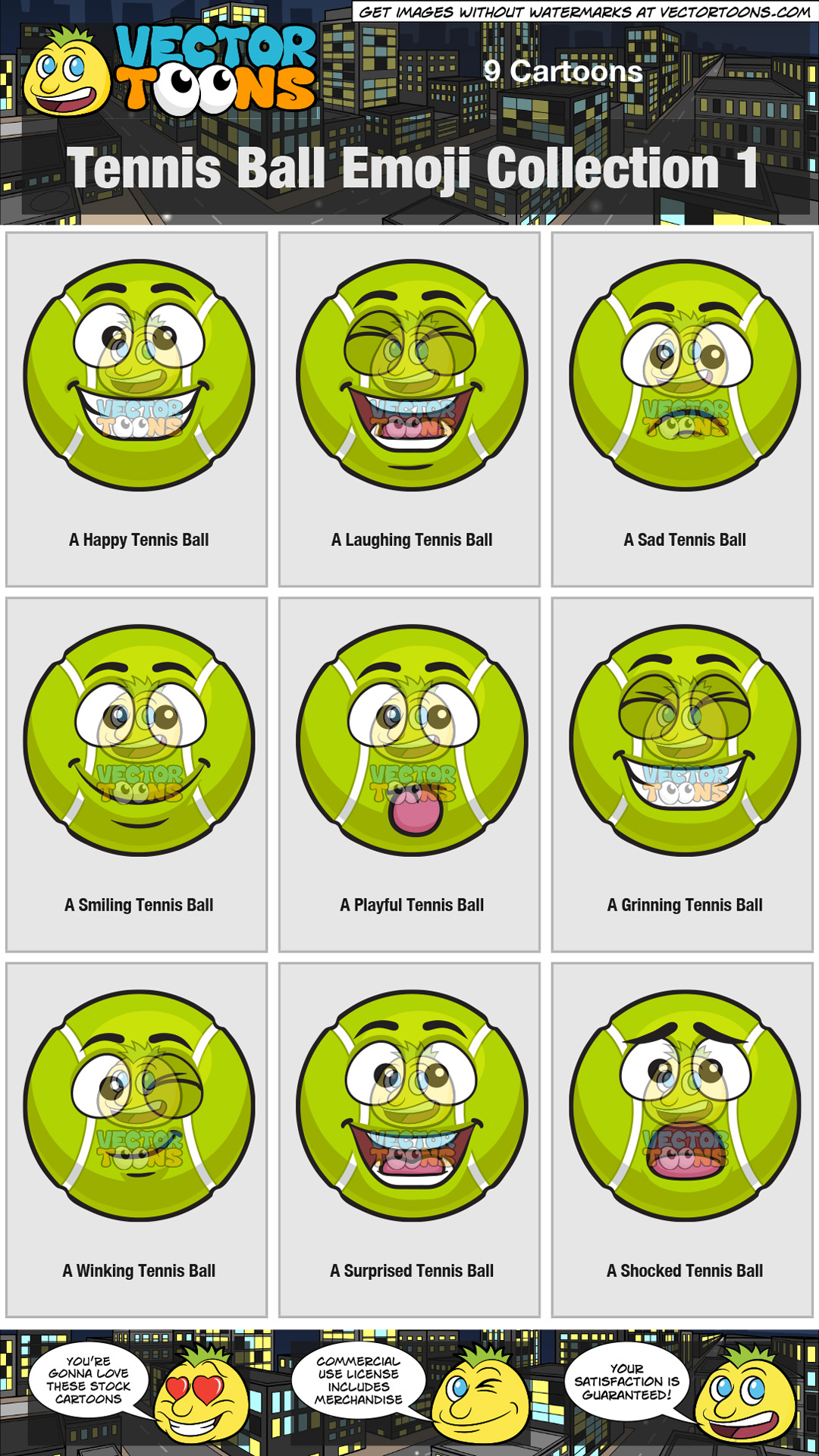 Tennis Ball Emoji Collection 1 thumbnail